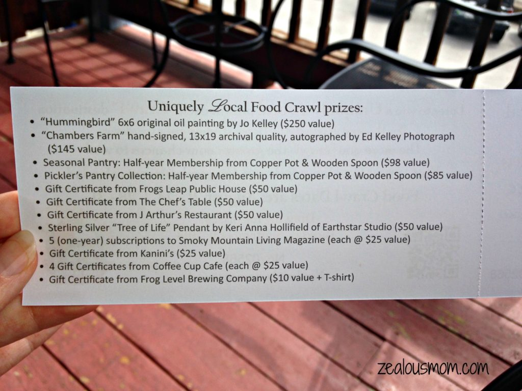 Buy Haywood's Uniquely Local Food Crawl -zealousmom.com #gogreen #buylocal #farmtotable