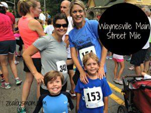 Waynesville Main Street Mile -zealousmom.com #running #races