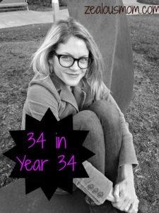 34 in 34 Years! #birthdaypost #birthdays