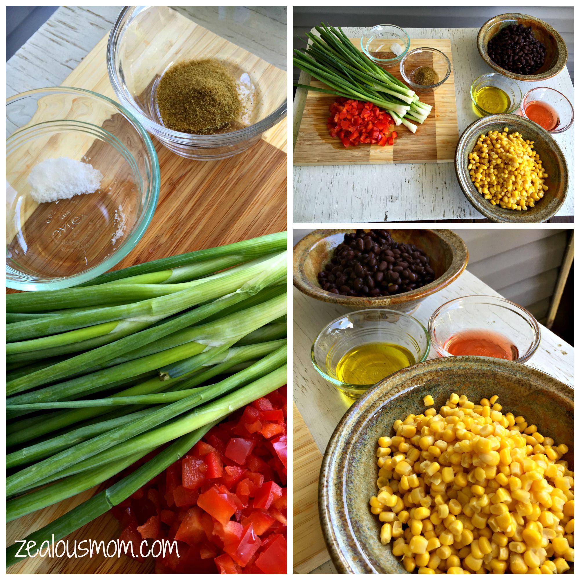 Labor Day fun with black bean and corn salsa