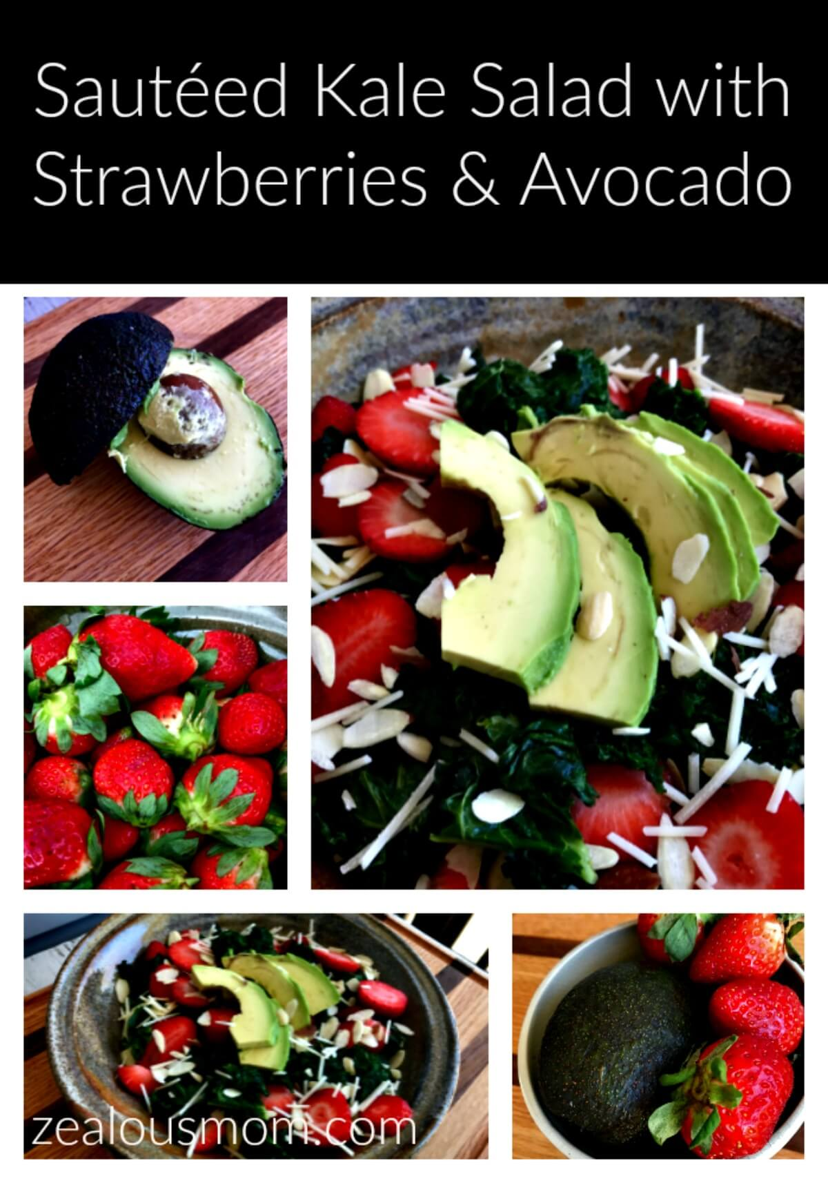 Sautéed Kale Salad with Strawberries and Avocado