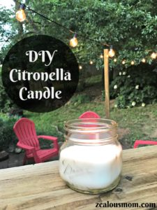 Relax this summer by learning how to make DIY Citronella candles. @zealousmom.com